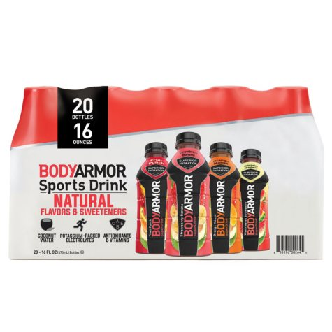 Bodyarmor Sports Drink Variety Pack (16 oz., 20 pk.)