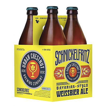 Urban Chestnut Schnickelfritz Bavarian Weissbier Ale (bottle, 4 pk.)