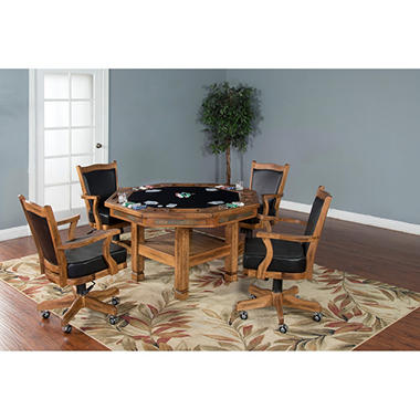 Tucson Game Table and Chairs, 5-Piece Set