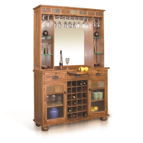 Tuscon Buffet with Back Bar Hutch, 2-Piece Set