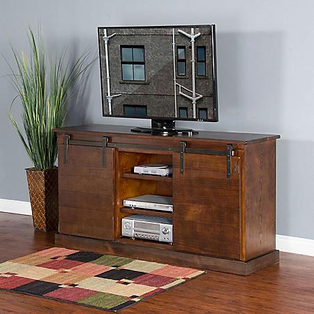 Farm Door TV Console (Assorted Colors)