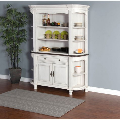 Cottage Buffet And China Hutch, 2 Pc.