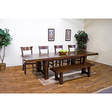 Napa Table Set with Bench, Rustic - 6 Pc.