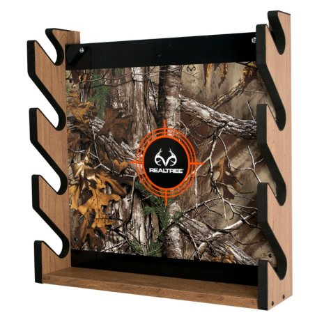 Rush Creek Creations REALTREE Camo 4-Gun Wall Storage Rack