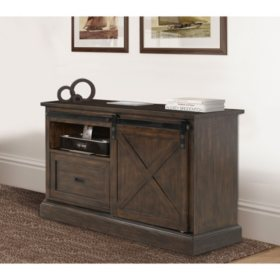 Stage Coach Collection Credenza, Aged Bourbon Finish