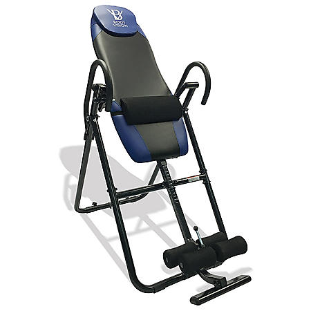 Body Vision IT9825 Premium Inversion Table with Adjustable Head Pillow & Lumbar Support Pad, Blue