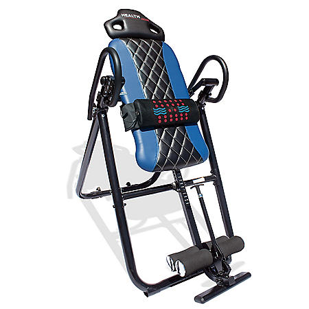 Health Gear HGI 4.2 Patent Pending Diamond Edition Heat & Vibration Massage Inversion Table, Blue