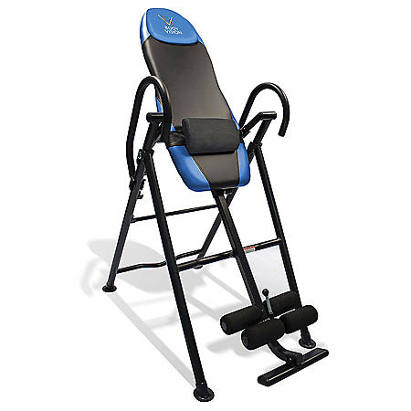 Body Vision IT9550 Deluxe Inversion Table with Adjustable Head Pillow & Lumbar Support Pad, Blue