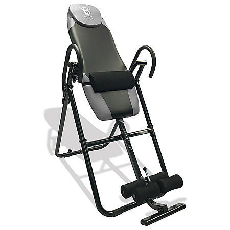 Body Vision IT9825 Premium Inversion Table with Adjustable Head Pillow & Lumbar Support Pad, Gray
