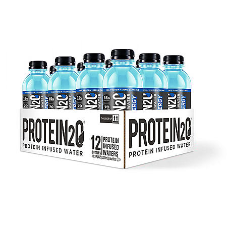 Protein2o - Protein Infused Water + Energy, Blue Raspberry (16.9 fl. oz, 12 pk.)