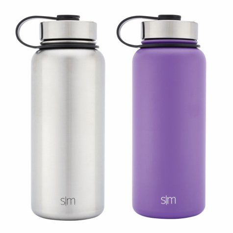 Simple Modern 32 oz. Summit Vacuum Insulated Stainless Steel Water Bottle, Various Colors (2 pk.)
