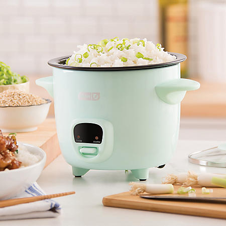 Dash Mini 2-Cup Rice Cooker with Keep Warm Function (Assorted Colors)