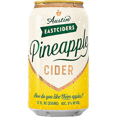 Austin Eastciders Pineapple Cider (12 fl. oz. can, 6 pk.)
