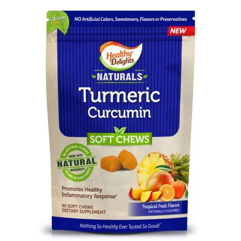 Healthy Delights Naturals, Turmeric Curcumin Soft Chews (90 ct.)