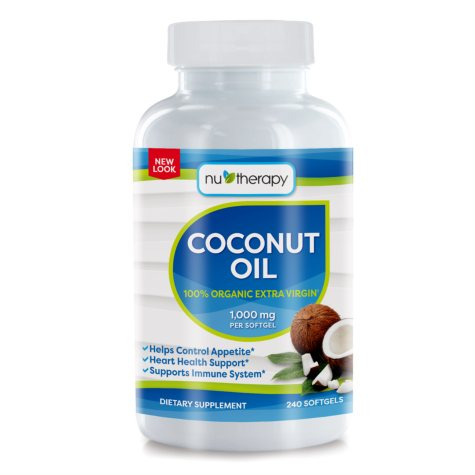 NuTherapy Coconut Oil Dietary Supplement (240 ct.)