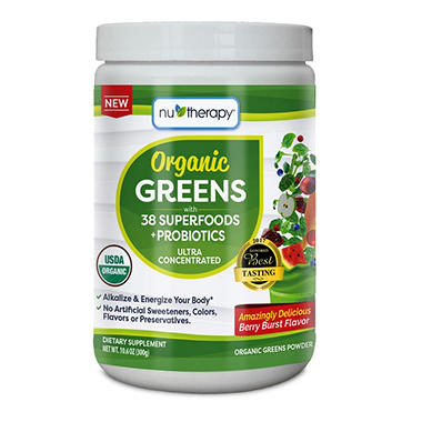 Nu-Therapy Organic Greens Powder Mix (30 servings)