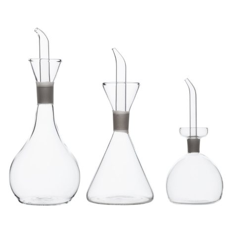 Chef's Planet Glass Cruets, Set of 3
