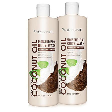Nature Well Coconut Oil Body Wash (24 fl. oz., 2 ct.)