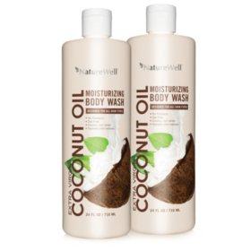 NatureWell Coconut Oil Body Wash (24 fl. oz., 2 ct.)