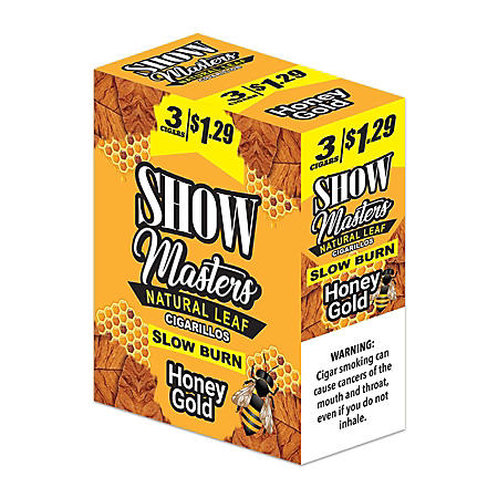 Show Masters Honey Gold Cigarillos Pre-Priced 3 for $1.29 (3 ct., 15 pk.)