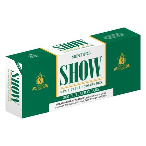 Show Menthol Filtered Cigars 100s 1 Carton