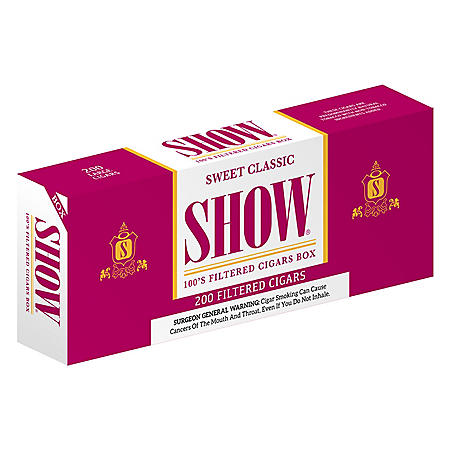 Show Sweet Classic Filtered Cigars 100s (20 ct., 10 pk.)