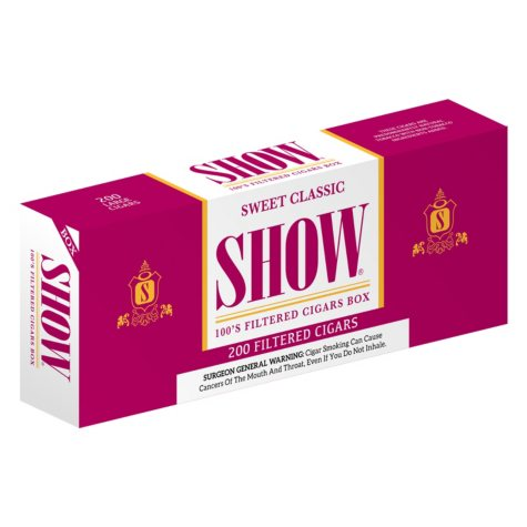 Show Sweet Classic Filtered Cigars 100s 1 Carton