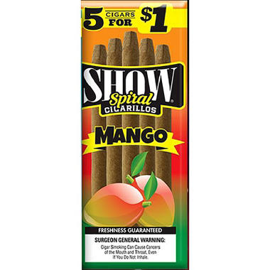 Show Mango Cigarillos, Pre-priced 5 for $1 (5 pk., 15 ct.)