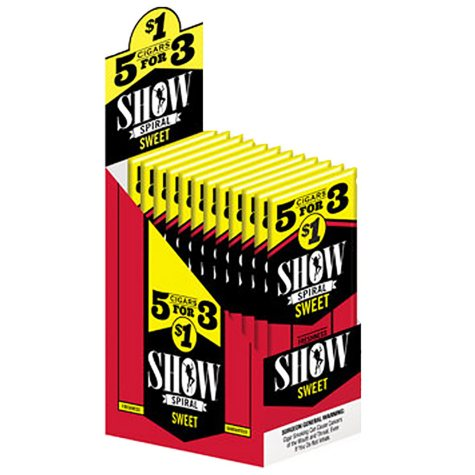 Show Spiral Sweet Cigars, Pre-priced 5 for $1 (5 pk., 15 ct.)