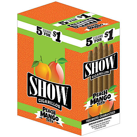 Show Cigarillos Peach Mango TaTa (5 ct. per pack, 15 pk.)