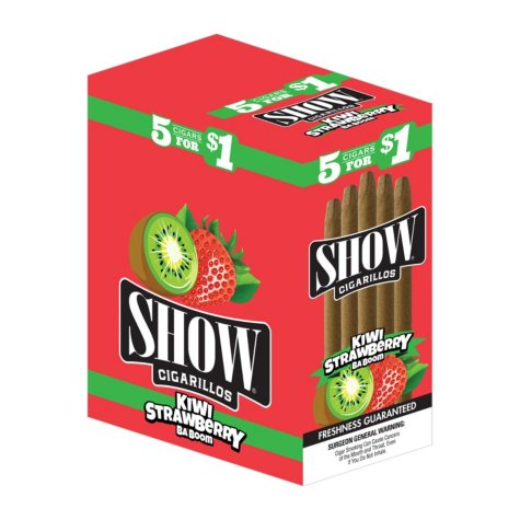 Show Cigarillos Kiwi Strawberry 5 for $1 (5 ct., 15 pk.)