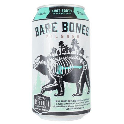 Lost Forty Bare Bones Pilsner (12 fl. oz. can, 6 pk.)