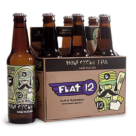 Flat 12 Half Cycle IPA (12 fl. oz. bottle, 6 pk.)