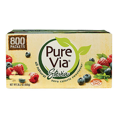 PURE VIA Zero Calorie Natural Sweetener (800 ct.)