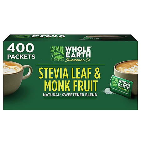 WHOLE EARTH Stevia Leaf and Monk Fruit Natural Sweetener (400 ct.)