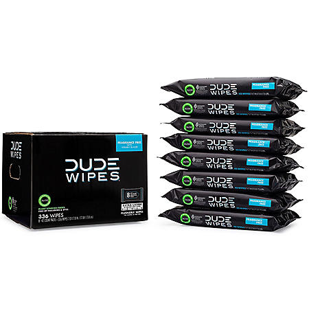 DUDE Wipes, Flushable Wipes, Extra Large and Fragrance Free Wipes (336 ct.)