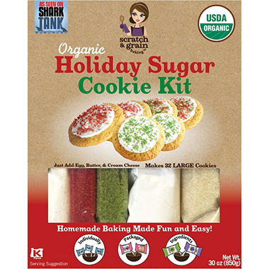 Scratch & Grain Baking Co. Organic Holiday Sugar Cookie Kit (30 oz.)