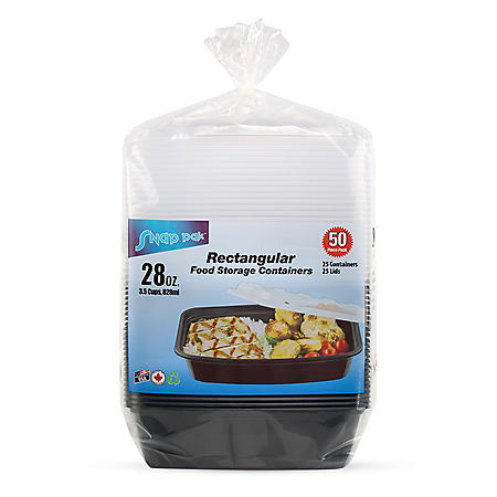 Snap Pak Food Storage Container (28oz., 50ct.)