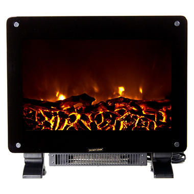 Warm House DSF-10302 Dallas Floor Standing Electric Fireplace - Black