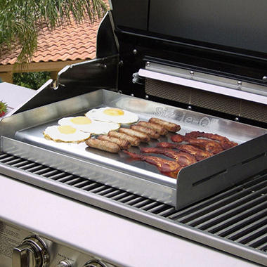 Sizzle-Q Stainless Steel Griddle for Grill
