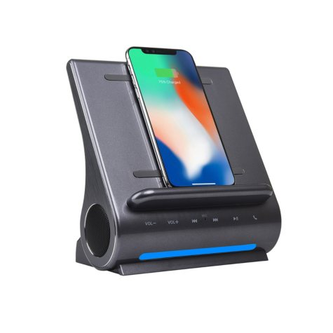 Azpen DockAll D108 Qi Wireless Fast Charging Sound Hub