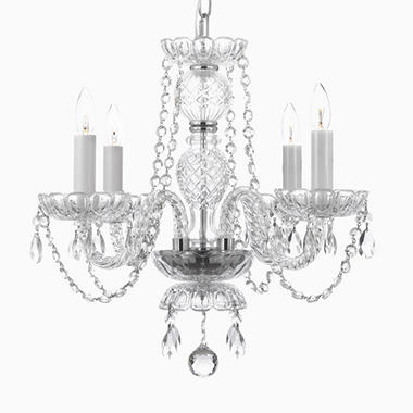 Harrison Lane Venetian-Style Crystal 4-Light Chandelier