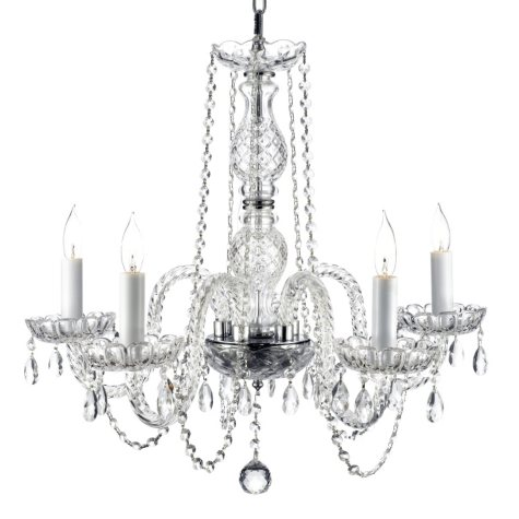 Harrison Lane Venetian-Style Crystal 5-Light Chandelier