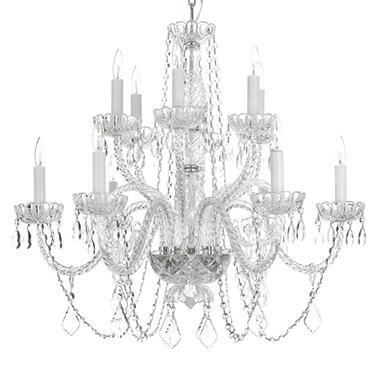 Harrison Lane Venetian Style Crystal 12 Light Chandelier
