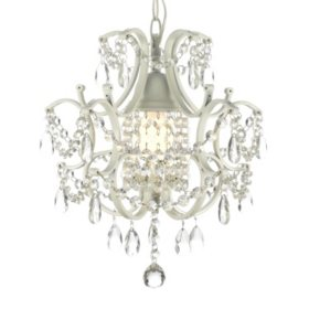 Chandeliers pendant fixtures sams club harrison lane wrought iron and crystal white chandelier aloadofball Images