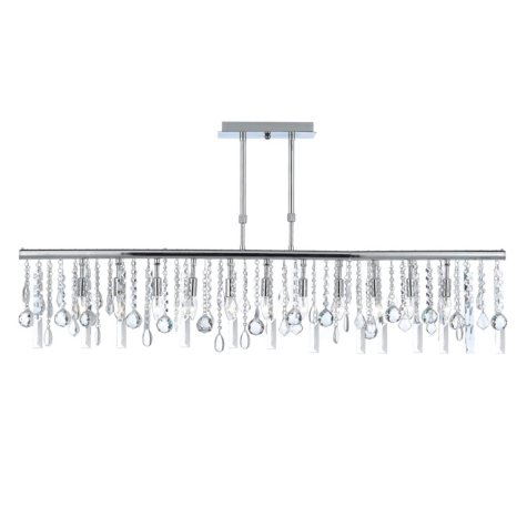 Harrison Lane Linear 5-Light Chandelier with Crystals, Adjustable Height
