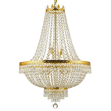 Harrison Lane Empire Crystal 9-Light Chandelier (Gold)