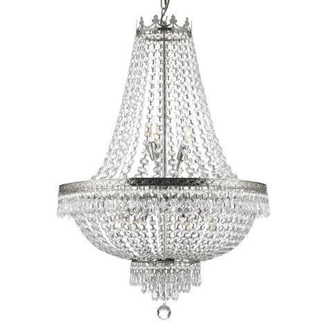 Harrison Lane Empire Crystal 9-Light Chandelier (Silver)