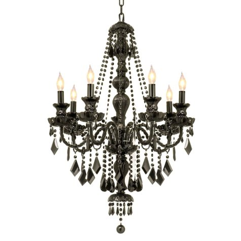 Harrison Lane Black Crystal 7-Light Chandelier