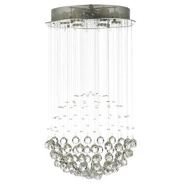 Harrison Lane Crystal Raindrop 6-Light Chandelier